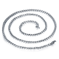 Queen Korea 316L Titanium Steel Women / Men / Unisex Necklace Jewelry Wholesale (Silver) &#8211.3 Mm X 550 Mm