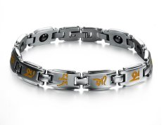 Queen Korean Fashion Simple Gifts Wholesale Health Women's Titanium Steel Bracelet (Golden) - INTL