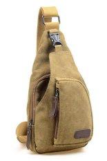 QuincyLabel Canvas Mens Shoulder Bag Chest Pack Crossbody Sports Bag - Type I - Khaki