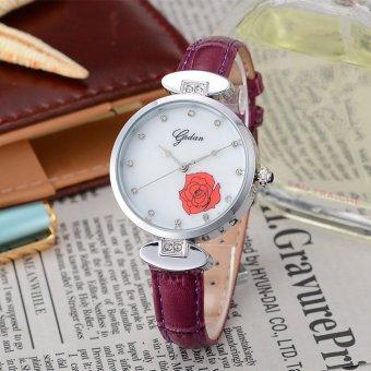 Quzhuo Authentic Korean Brand Watches Quartz Diamond Ladies Watch Waterproof Leather Belt Watch One Generation Wholesale