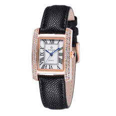 Quzhuo Genuine Brand Watches Swiss Female Fashion Korean Ladies Watch Wholesale Red Leather Watch