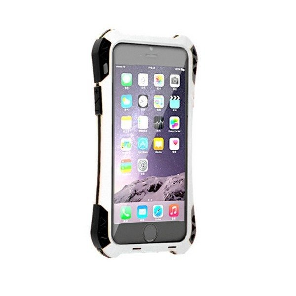 R-just AMIRA Water/Dirt/Shock Proof Multifunction Phone Case for iPhone SE / 5S / 5 White