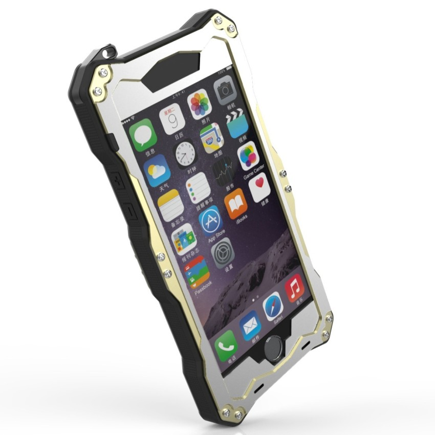 R -JUST Metal Waterproof Hard Case for iPhone6 ​​Pr + S / 6S (Black) (Intl)