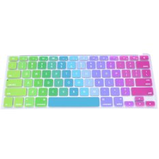 Rainbow Color Silicone Keyboard Cover Protector Skin For Macbook Air 17 / Pro 17 Inch - Multicolor