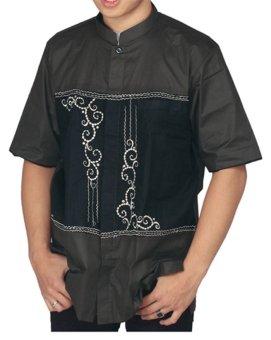 Raindoz Moslem Wear Baju Koko Katun Lengan Pendek Pria