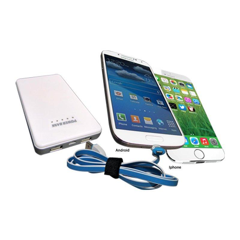 Ranselku Cable data/Charger iPhone Samsung 2 in 1 seri B - Ungu