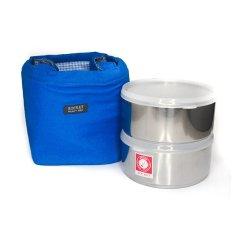 Rantang Lunch Box - Kotak Makan - 14 cm- Biru