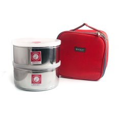 Rantang Lunch Box - Kotak Makan - 14 Cm - Merah