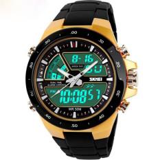 Readeel Men Sports Watches Waterproof Fashion Casual Quartz Watch Digital & Analog Military Multifunctional Men's Sports Watches (Gold)