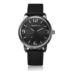 REBIRTH RE023 Stainless Steel Case Rubber Strap Men Women Luxury Military Army Classic Brand Design Wrist Quartz Watch