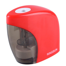 Red Electric Battery Switch Pencil Sharpener For Office Students Desktop (Intl)