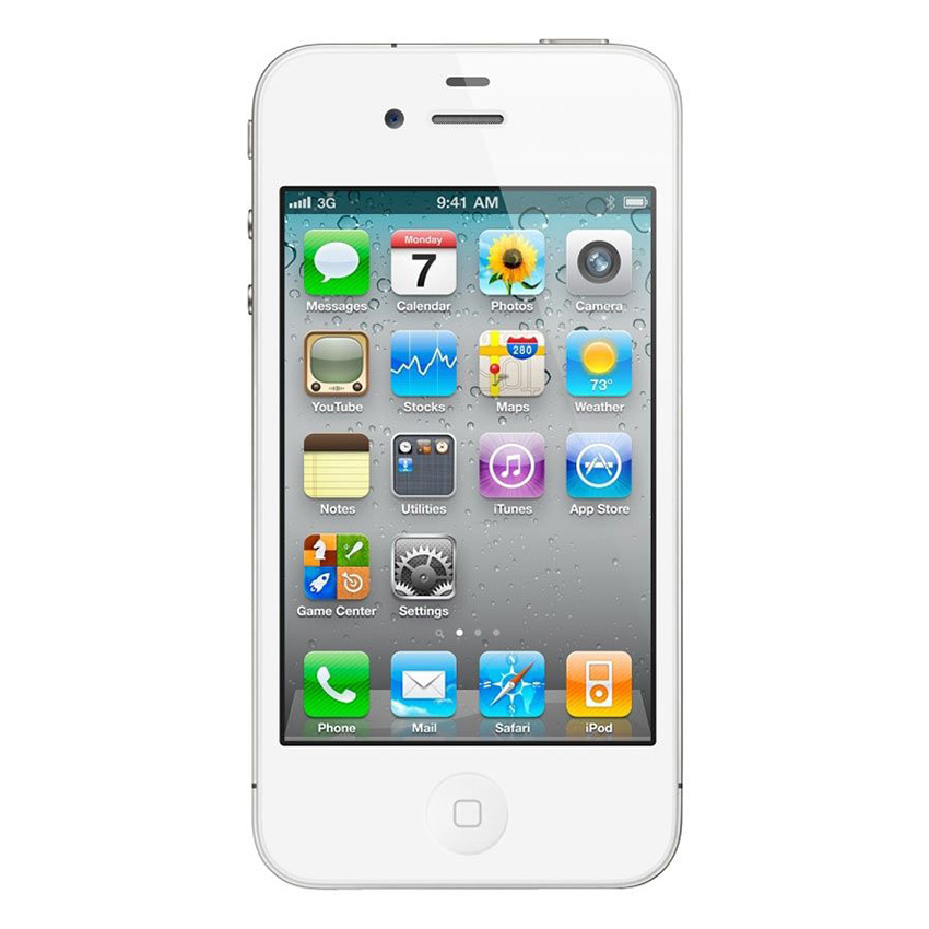 Refurbished Apple iPhone 4 - 16GB - Putih - Grade A