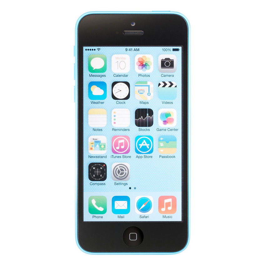 Refurbished Apple iPhone 5C - 32 GB - Biru - Grade A + Gratis Tempered Glass - Power Bank 20000mAH