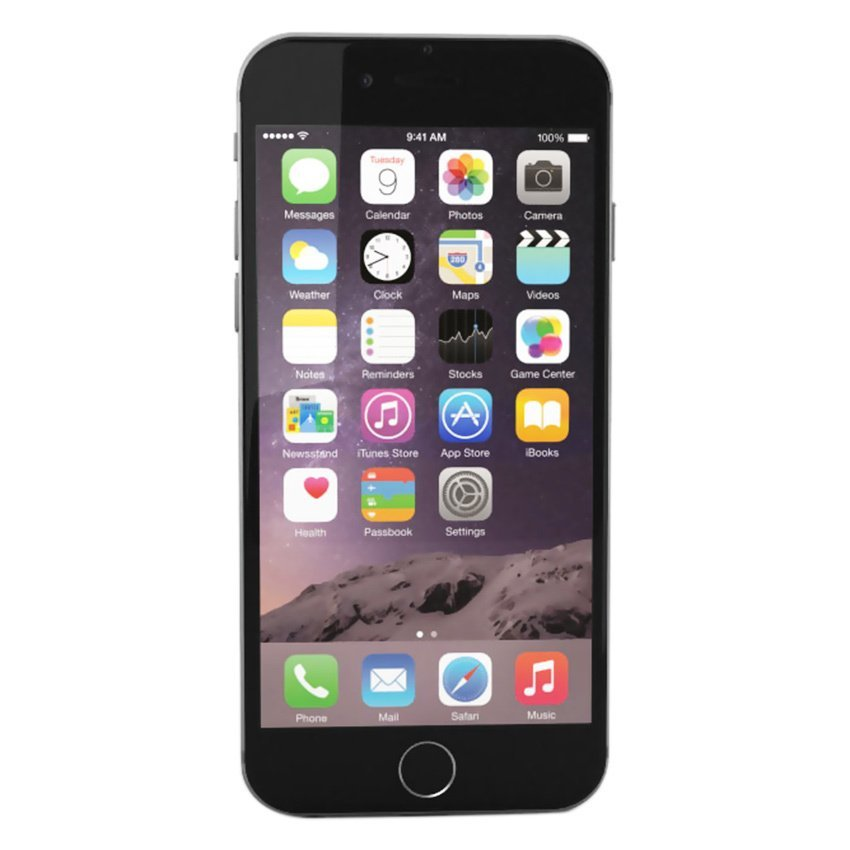 Refurbished Apple Iphone 6 - 16GB - Hitam - Grade A