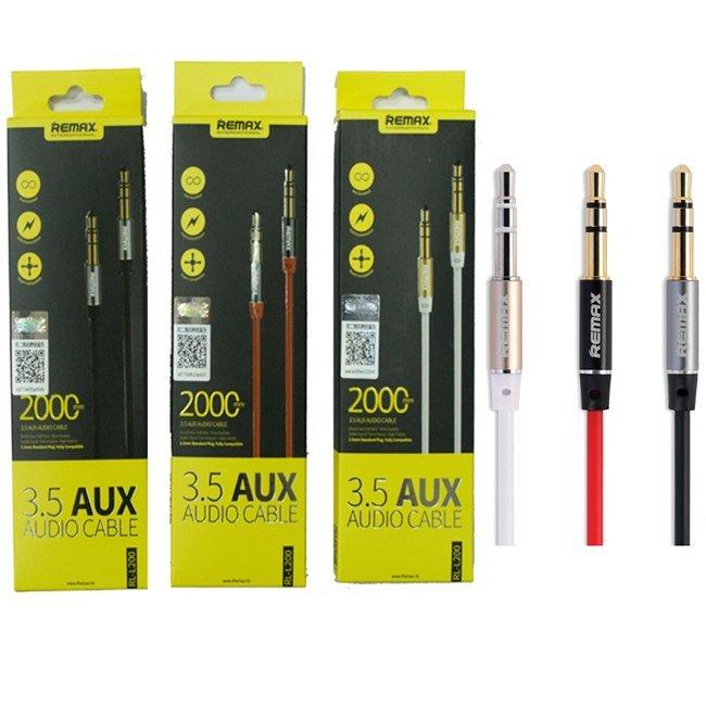 Remax 3.5mm AUX Cable RL-L200 2M Merah