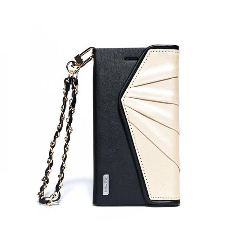 Remax Bounf-Fancy Leather Case Hand Bag Model Wallet for iPhone 6 - Black-Gold