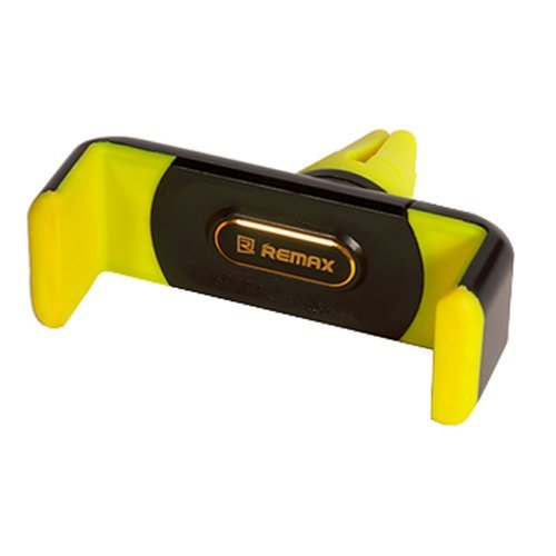 Remax Car Air Vent Smartphone Holder - RM-01 - Hitam-Kuning