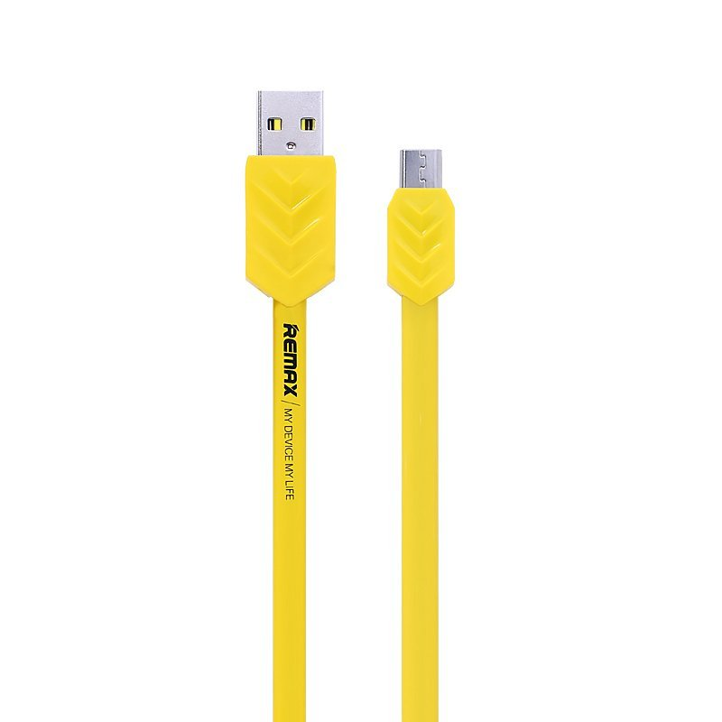 Remax Fishbone Kabel Data USB Micro Cable - Yellow