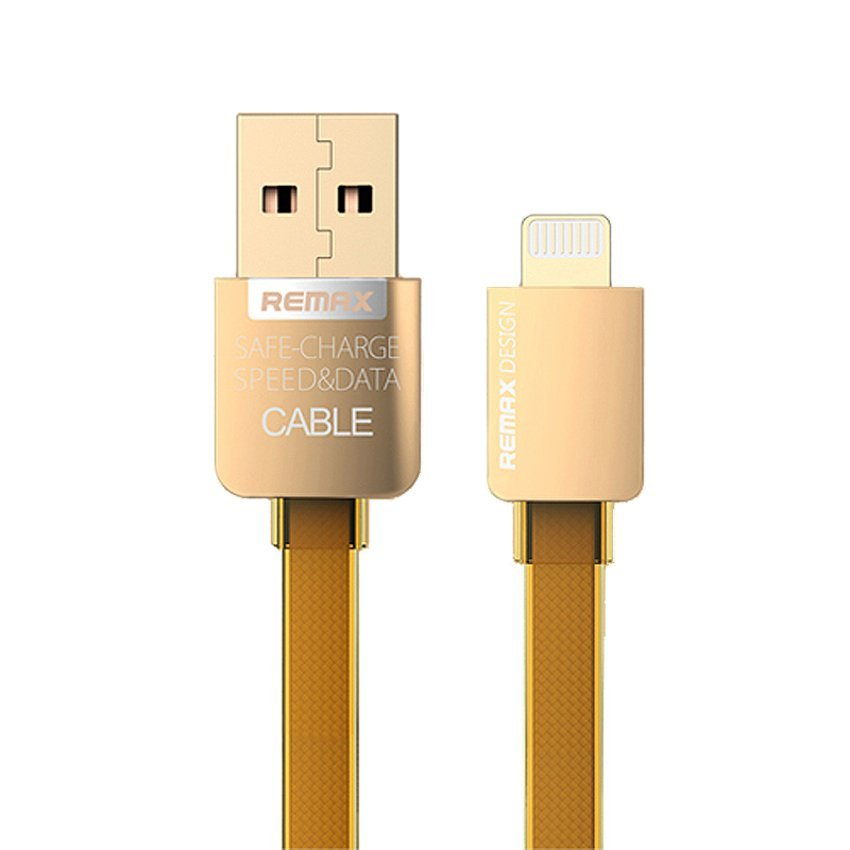 Remax Kabel Data/Charging Gold Series Lightning iPhone 1Meter Gold