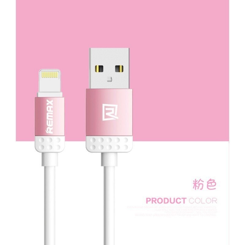 Remax Lovely Cable Kabel Data & Charger iPhone 5/6 - Pink