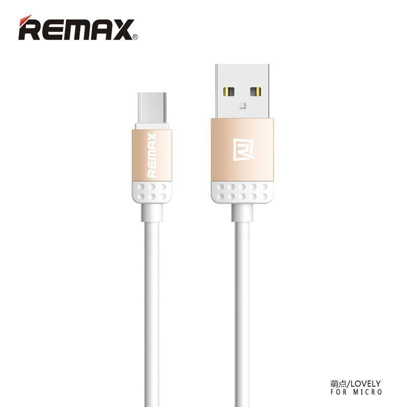 Remax Lovely Lightning Cable untuk iPhone6/6+/5/5s - Golden