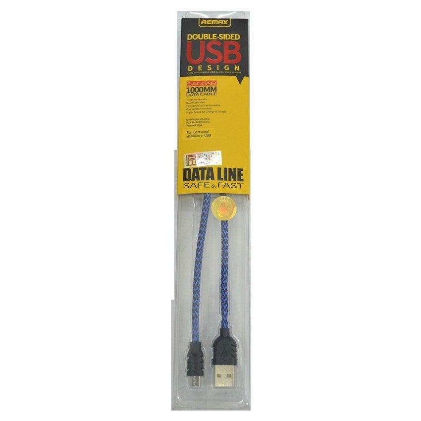 Remax Nylon Cable Micro USB-1M - Biru