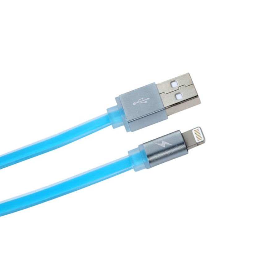 Remax Puding Cable For iPhone 5/ 6 Lightning Kabel Data – Blue