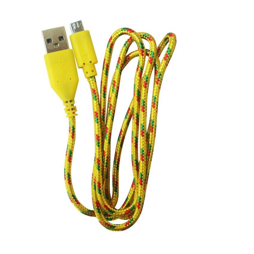 Rexus Kabel Data Mikro Tali Sepatu 90 Cm – Kuning
