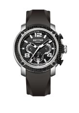 Rhythm S1413.03 - Jam Tangan Pria - Silicon - Black Black