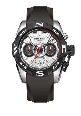 Rhythm S1414.01 - Jam Tangan Pria - Silicon - Black White