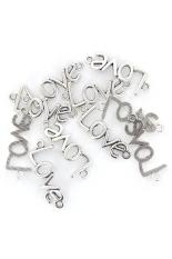 RIS Antique Silver Lover Couple Necklace Bracelet Pendants Set Of 10 (Intl)