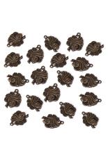 RIS Set Of 20 Bronze Tone Ethnic Charm Necklace Bracelet Pendant (Intl)