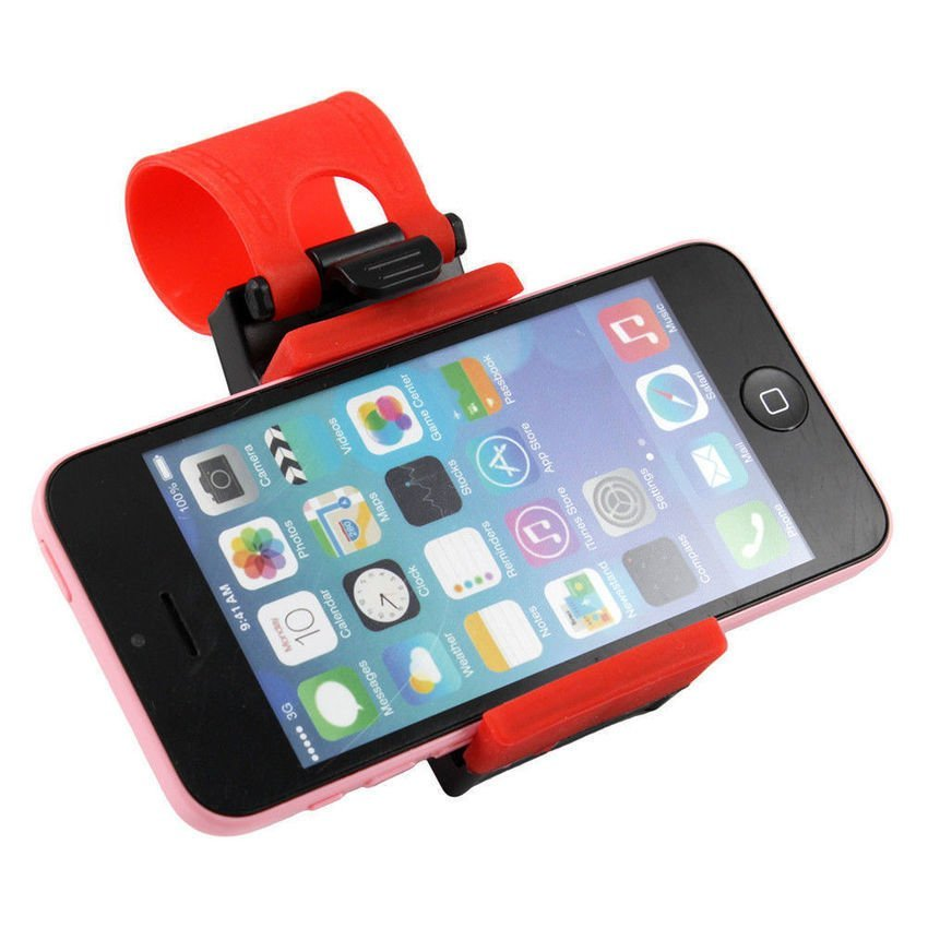 RIS Universal Car Steering Wheel Bike Clip Mount Holder for Samsung Iphone Phone (Intl)