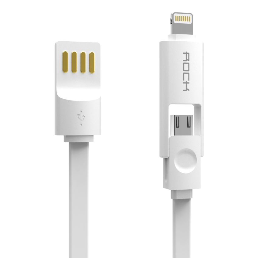 Rock 1M Lightning USB Cable for iPhone6/6S Plus Samsung HTC iPad (Intl)