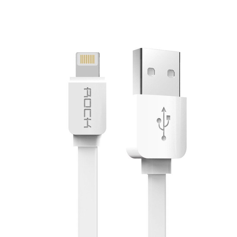 Rock 32cm Lightning quick charging usb cable sync data line for iPhone 5/5s/6/6plus / iPad device (White) (Intl)