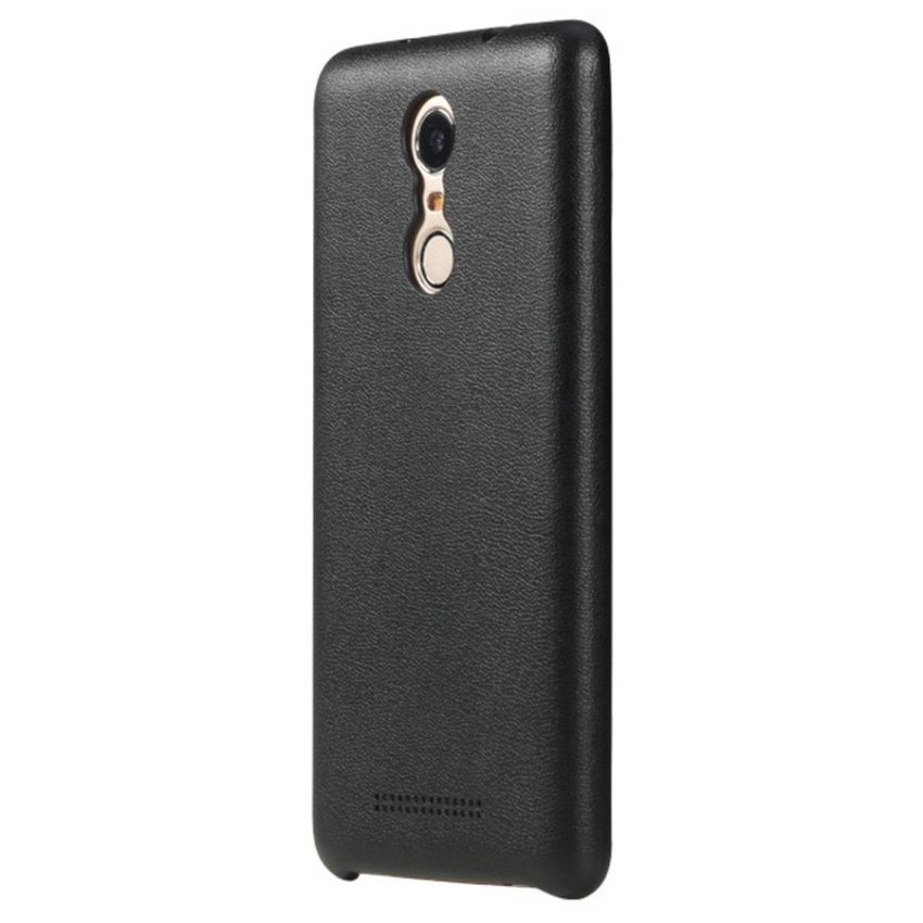 Rock Smart Phone Case For Xiaomi Redmi Note 3 Leather Series - HITAM + Gratis Tempered Glass