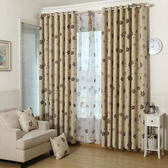 Ropalia Flower Thick Curtains For Living Room Cofffee
