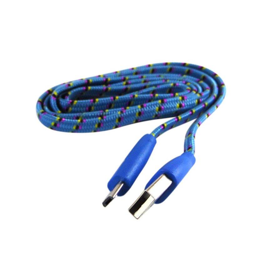 Rotamart Kabel Micro USB 1 meter - Biru Pink