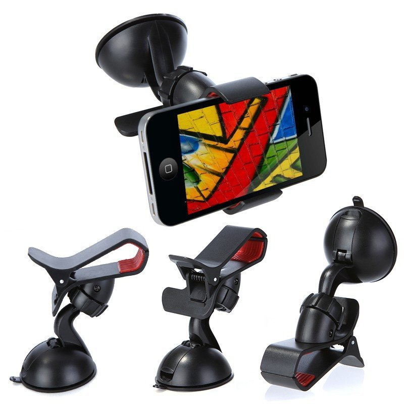 Rotating 360 Degree Car Mount Bracket Holder for iPhone Cellphone GPS MP4 PDA (Intl)