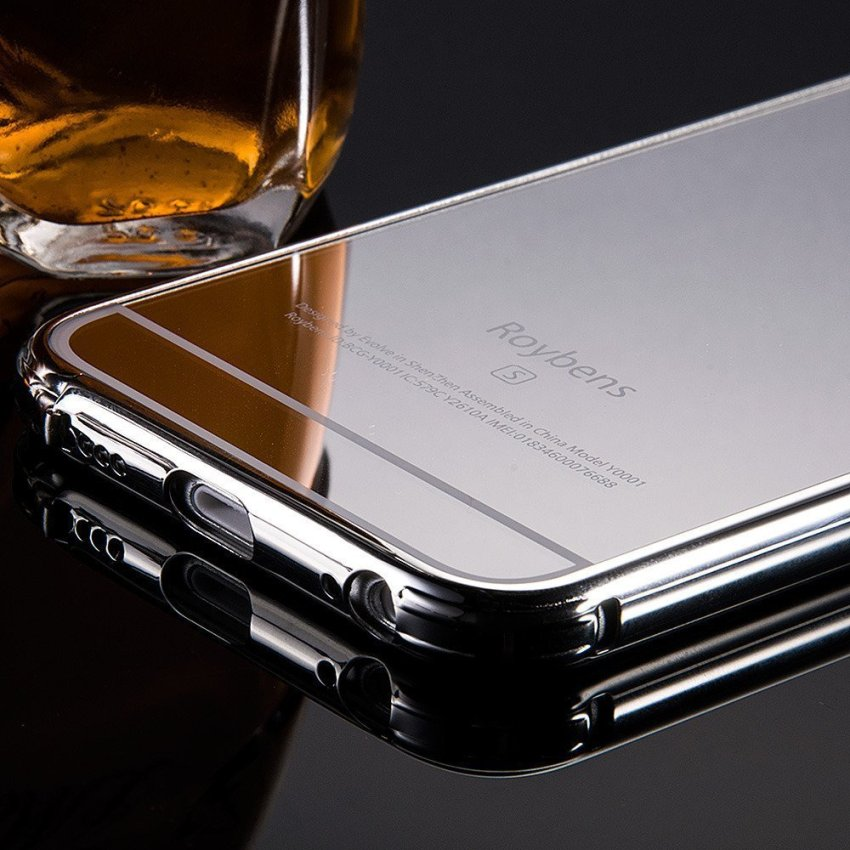 Roybens Luxury Aluminum Ultra-thin Bumper Mirror Metal Case Cover for iPhone 5 5s Silver (Intl)