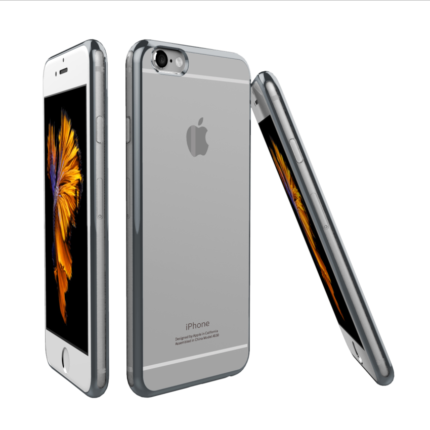 Roybens Soft TPU Metal Case for iPhone 6/6S (Grey) (Intl)
