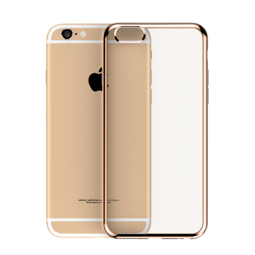 Roybens Ultra-thin Sillicone Metal Soft Case for Apple iPhone 6/6S Plus (Gold) (Intl)