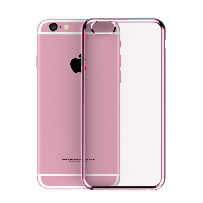 Roybens Ultra-thin Sillicone Metal Soft Case for Apple iPhone 6/6S Plus (Pink) (Intl)