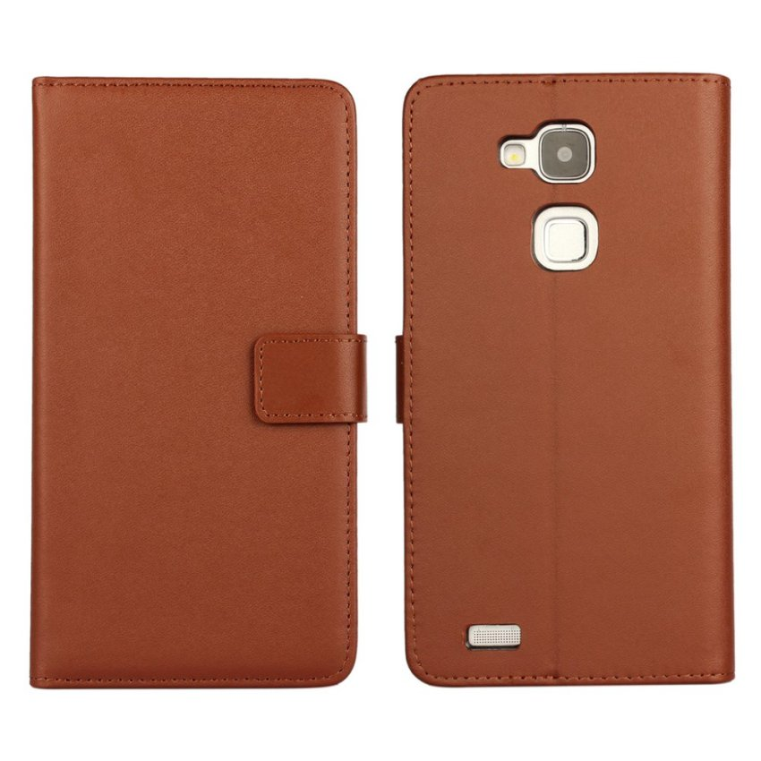 RUILEAN Leather Case for Huawei Mate 7 Premium Pu Leather Wallet Card Pouch Flip cover with Kickstand Function Brown