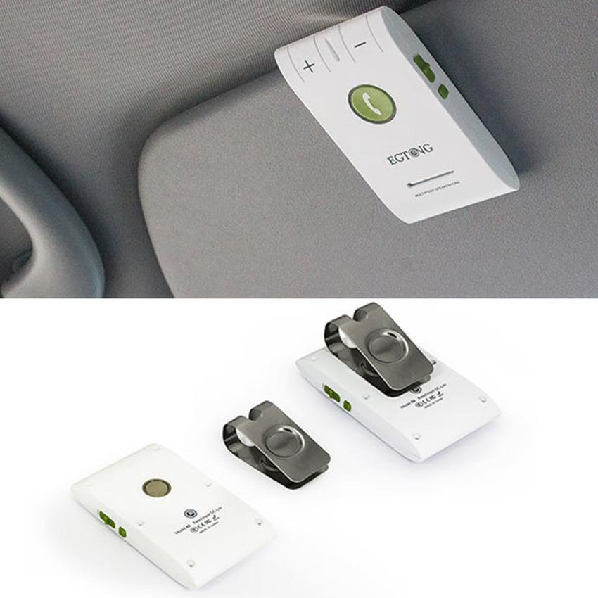 S & F EGTONG 6E Wireless Bluetooth Handsfree Speakerphone Car Kit White