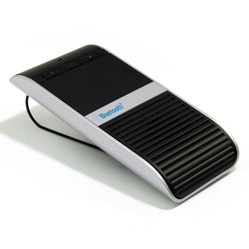 S & F Solar Power Energy Vehicle-mount Hands Free Car Bluetooth Kit Speaker