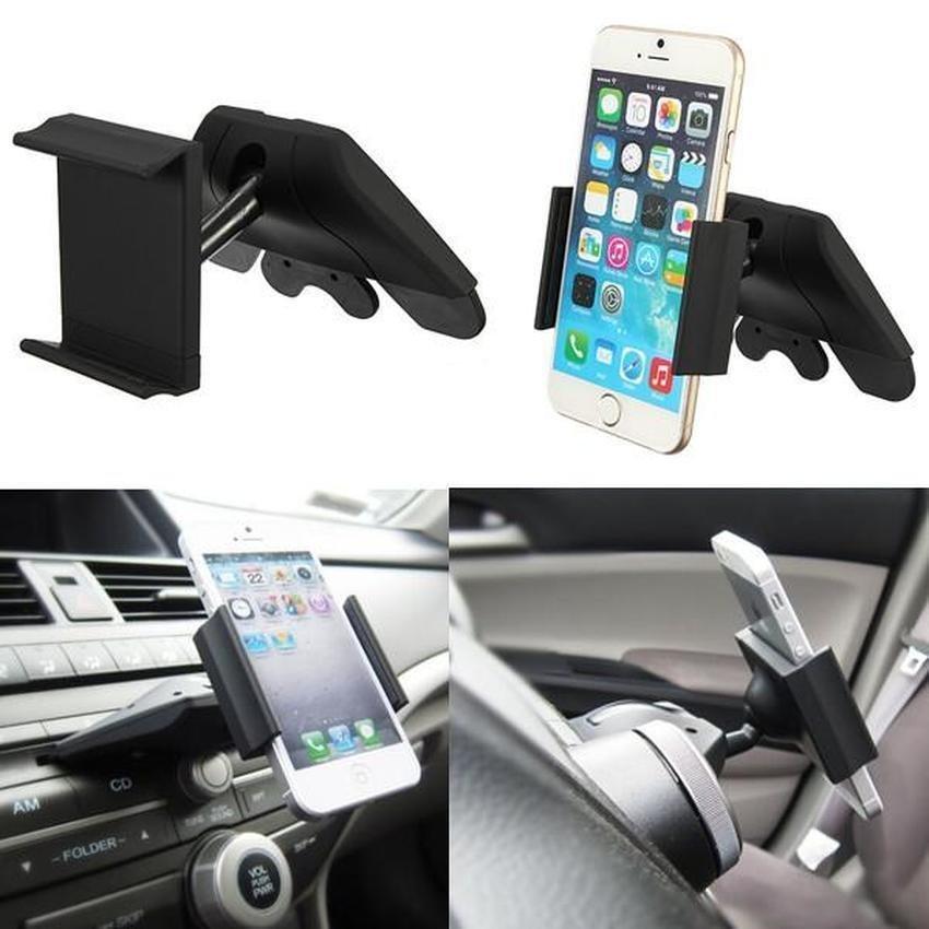 S & F Universal Car CD Slot Mount Holder Cradle for iPhone 6 Samsung HTC Sony LG Nokia (Intl)