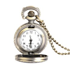 S & F New Retro Antique Brass Owl Design Small Size Pocket Watch Necklace Unisex - Intl
