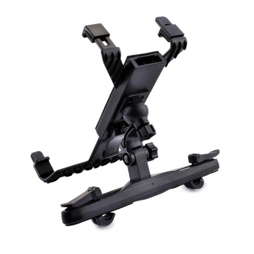 S2206W-AB 360 Adjustable Rotating Car Headrest Holder for iPad/Samsung Tablet (Black) (Intl)
