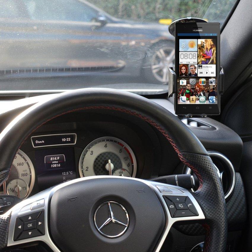 Samrick 360 Degree Rotation Car Dashboard Mount/Holder for Huawei Ascend P2 (Black) (Intl)